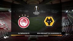 Europa League (octavos, ida): Resumen y goles del Olympiacos 1-1 Wolverhampton
