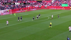 Gol de Ben Yedder (1-0) en el Sevilla 2-0 Lazio