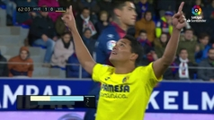 Gol de Bacca (p.) (1-1) en el Huesca 2-2 Villarreal
