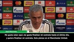 """Mourinho cierra la puerta al Real Madrid: """"Sólo pienso en el Manchester United"""""""
