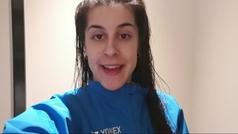 """Carolina Marín: """"Estoy contenta por cómo controlo el volante en el pabellón porque hay mucho aire"""""""