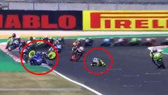 Se rozó el drama en Superbikes: se va al suelo... ¡y le esquivan 10 rivales por centímetros!