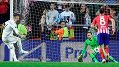 Supercopa de Europa 2018: Gol de Sergio Ramos (p.) (2-1) en el Real Madrid 2-4 Atlético
