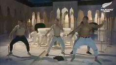 Espectacular haka de los All Blacks en la Alhambra
