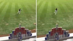 A este 'pitcher' le tienen vetado en los puestos de la feria: ¡ojo a la puntería desde 20 metros!