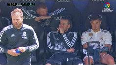 Con 0-2 y el Bernabéu de uñas: Kroos y Bale, de risitas en el banquillo
