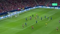 Gol de Griezmann (1-0) en el Atlético 3-1 Brujas
