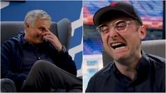 Mourinho conoce a 'Mourinho' y llora de risa con la imitación de Emery
