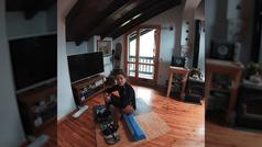 Snowboard en casa: así se entrena Nuria Castán, la única rider española en el Freeride World Tour.