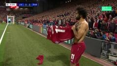 ¡Salah se quitó el vendaje del hombro antes de sacar un córner!