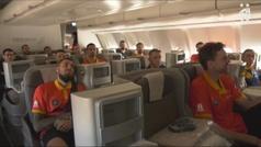La selección española de baloncesto en Las Vegas para el amistoso ante Estados Unidos de Kevin Duran
