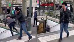 El empujón de un español a una señora en el metro de París que le ha costado la deportación