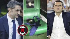Valverde se dejó la corbata en el banquillo del Villamarín.