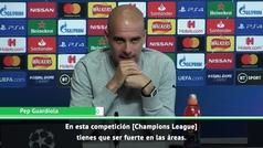 """Guardiola avisa: """"En la Champions tienes que ser fuerte en las áreas... y no lo somos"""""""