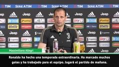 "Allegri: ""Cristiano Ronaldo es el futuro de la Juventus"""
