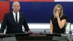 Vicky Gomersall, presentadora deportiva de SKY SPORTS, comenzó a llorar en directo al anunciar la mu
