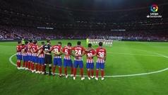 Emotivo minuto de silencio del Atlético por el Padre Daniel