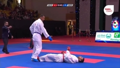Brutal knockout en el Karate 1 Premier League en Dubai