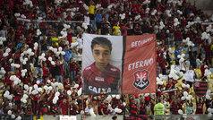 El homenaje de la afición del Flamengo a sus 10 canteranos fallecidos