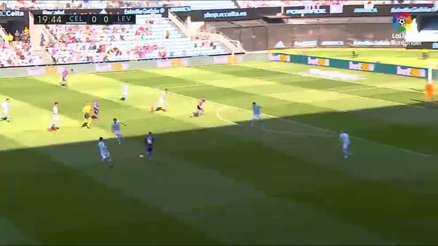 El doblete de Morales en la goleada del Levante al Celta