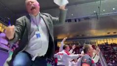 La loca celebración del equipo ruso tras eliminar a Serbia