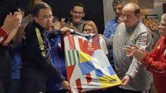 La camiseta de todo el fútbol español