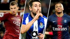 Dzeko, Héctor Herrera y Mbappé apuntan a ser cracks en los octavos de Champions