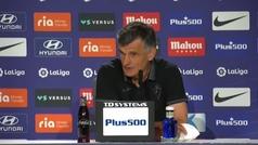 """Mendilibar: """"Después del 1-0 dejamos de dar la vara"""""""