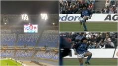 Volvió a sonar Life is life en un calentamiento del Nápoles, pero hoy faltaba Maradona y su magia