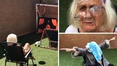 La abuela futbolera con más calidad de la red