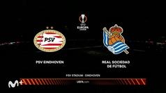 Europa League (J1): Resumen y goles del PSV 2-2 Real Sociedad