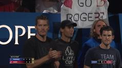 Nadal, un manojo de nervios: ¡qué manera de sufrir con el partido de Federer!