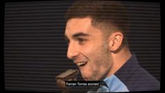 Ferran Torres narra sus goles en la CHAMPIONS con el City