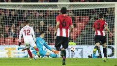 Copa del Rey (octavos, ida): Resumen y goles del Athletic 1-3 Sevilla