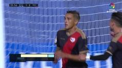 Gol de Trejo (p.) (1-2) en el Real Sociedad 2-2 Rayo Vallecano