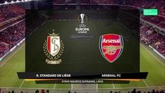 Europa League (Grupo F): Resumen y goles del Standard Lieja 2-2 Arsenal
