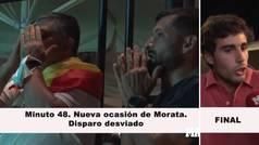 Así reaccionó la afición a los fallos de Morata: y el 'speech' final de este seguidor...