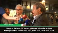 """Platini, al salir en libertad: """"Estoy tranquilo porque he sido transparente"""""""