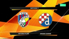 Europa League (1/16, ida): Resumen y goles del Viktoria 2-1 Dinamo Zagreb
