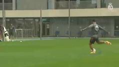 Último entrenamiento del Real Madrid antes de visitar al Valencia en Mestalla