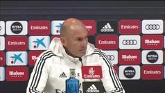 """Zidane, sobre el debate de la portería: """"El año que viene todo va a ser muy claro"""""""