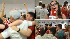 Montaña rusa de emociones de los croatas 'madrileños' en la final del Mundial