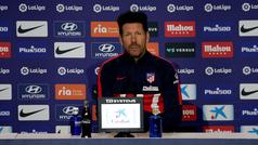 """Simeone: """"Las bajas son una oportunidad para otros compañeros"""""""