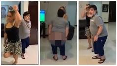 Maradona se baja los pantalones en pleno baile