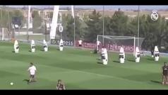 El golazo de James a pase de Zidane: control con el pecho y volea por toda la escuadra