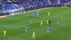 Gol de Ekambi (1-1) en el Espanyol 3-1 Villarreal
