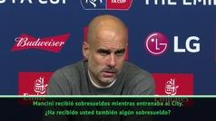 """La indignación de Guardiola con un periodista: """"¿Merezco esta pregunta el día que gano el triplete?"""""""
