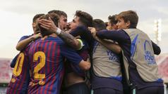 Youthe League (cuartos de final): Resumen y goles del Barcelona 3-2 Olympique Lyon