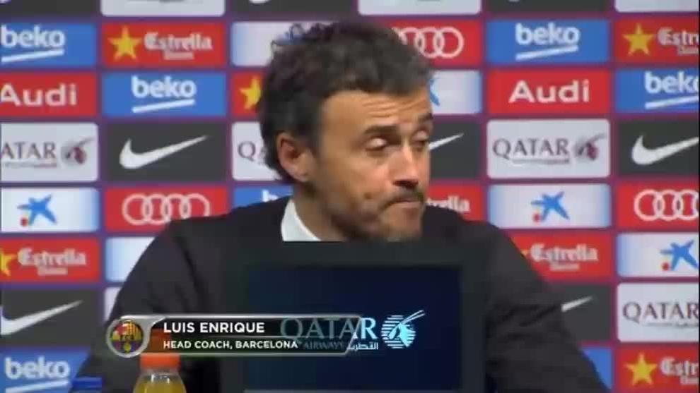 """Luis Enrique: """"No me gusta arriesgar con nadie y menos con Messi"""""""