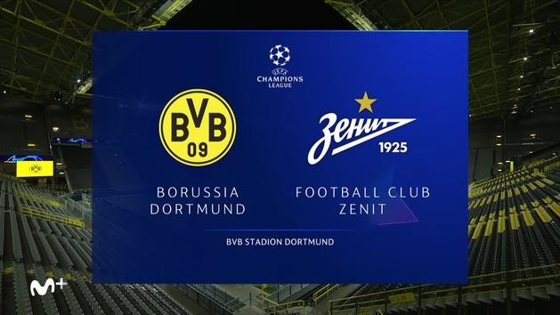 Champions League (J2): Resumen y goles del Borussia Dortmund 2-0 Zenit